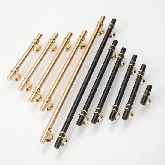Luxury Design Kitchen Cabinet Handles Drawer Bar Handle Pull Gold 96MM-160MM