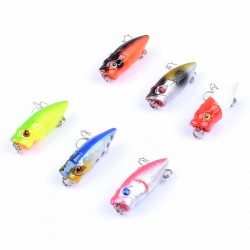6X 3.5cm Popper Poppers Fishing Hard Lure Lures Surface Tackle Fresh Saltwater