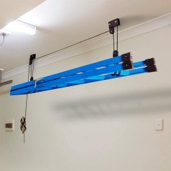 Kayak Bike Hoists Hanger Ladder Ceiling Mount 55 lb Capacity Hooks Pulleys