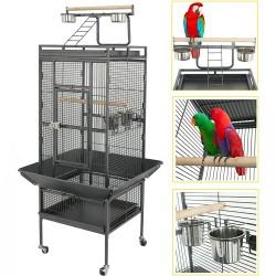 154cm Pet Bird cage Large Play Top Parrot Cockatiel Cockatoo Parakeet Finch Pet