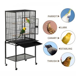 134cm Large Bird Aviary Cage Heavy Duty Parrot Budgie Parakeet Cockatoo Perch Cage Storage Shelf
