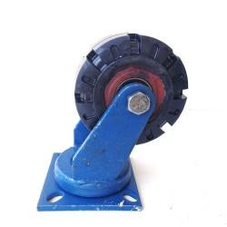 Industrial 500kg 6inch Heavy Duty Machine Solid rubber Caster Swivel Wheel