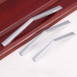 96MM 128MM 160MM  White Black Zinc Alloy Kitchen Nickel Door Cabinet Drawer Handle Pulls
