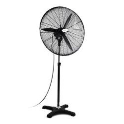 Adjustable Industrial Standing Fan - Black