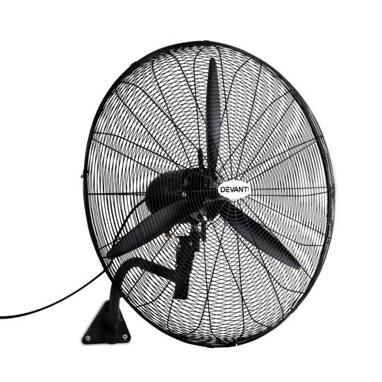 Industrial Wall Mounted Fan 鈥?Black