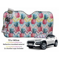Car Sunshade Pineapple 140x72cm