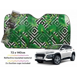 Car Sunshade Geo Palm 140x72cm