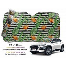 Car Sunshade Birds Of Paradise 140 X 72cm