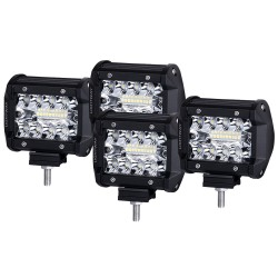 4x 4 inch CREE LED Work Light Bar Spot Flood OffRoad Driving 4WD 4x4 Reverse