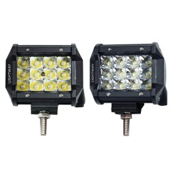 2X 4inch LED Work Light Bar Spot Philips Triple Row Driving 4WD