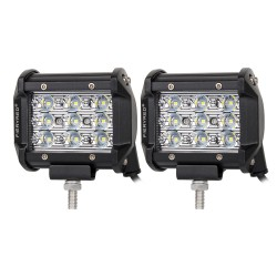 Pair 4inch Philips LED Light Bar Work Spot Beam Driving Lamp Offroad 4WD Ford