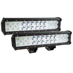 "Pair 12inch CREE LED Light Bar Spot Flood Off Road Work Driving Lamp 9"""
