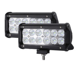 """Pair 7inch CREE LED Light Bar Flood Off Road Work Driving Lamp 9"""""""