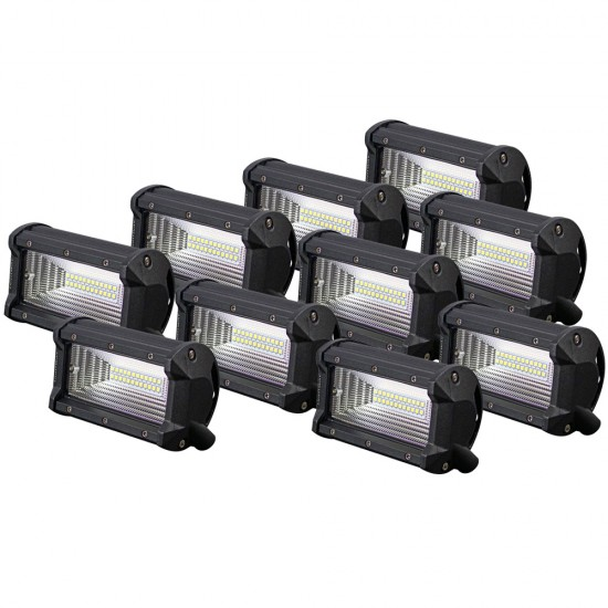 10X 5inch Cree LED Work Driving Light Bar Flood Beam Offroad 4x4 SUV ATV