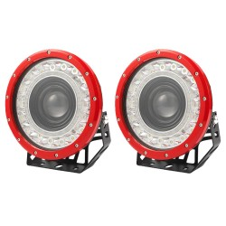 Pair 9 inch Spotlights LED Driving Lights CREE Spot Round 4WD 4x4 SUV OffRoad