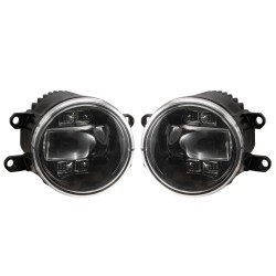 Pair 30W Bullbar LED Fog Lights DRL Turn Signal Driving Lamp Universal Vehicles
