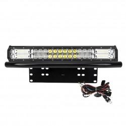 20inch LED Light Bar Osram Spot Flood combo Plus Number Plate Frame Offroad 4WD