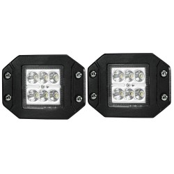2x 4inch CREE LED Work Light Bar Spot Flush Mount Offroad 4WD Boat Truck ATV 4X4