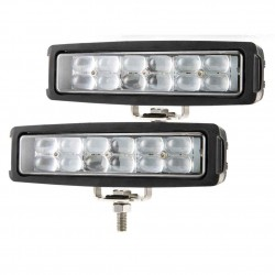 Pair 6 inch Dual Row CREE LED Work Light Bar Spot Offroad 4x4 4WD Work Fog Lamp