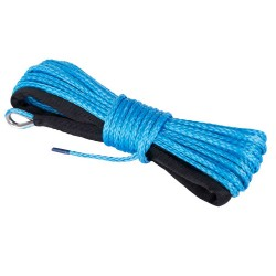 Dyneema SK75 Winch Rope Blue Synthetic High Strength 5mm x 15M ATV Boat 4WD