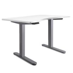 140cm Curved Adjustable Desk - White