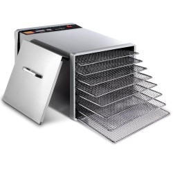 Stainless Steel Food Dehydrator with 8 Trays