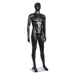 186cm Tall Full Body Male Mannequin - Black