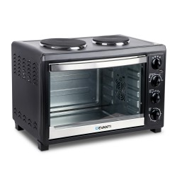 45L Convection Oven with Hotplates - Black