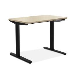 Artiss Electric Motorised Height Adjutable Standing Desk Black Frame - Natural Oak 100cmx60cm