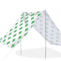 Good Vibes Summer Beach Tent Cactus Green 148x370cm