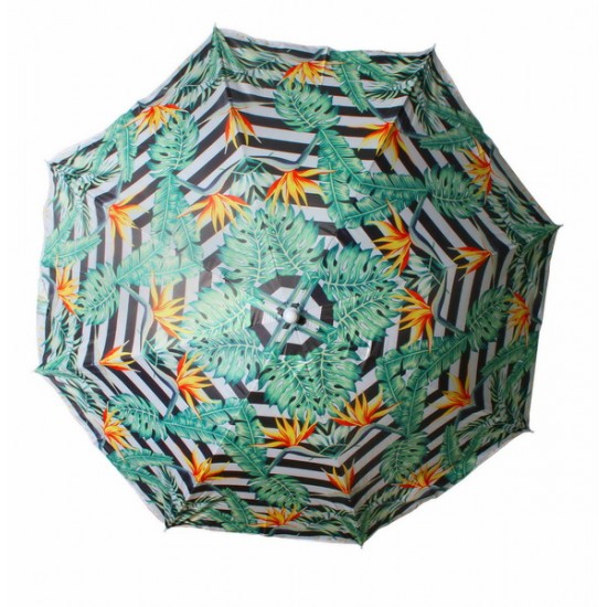 Beach Umbrella 180cm Bird Of Paradise Design