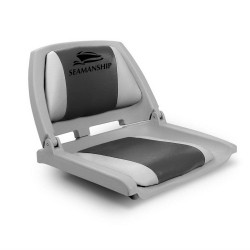 Seamanship Folding Swivel Boat Seat - Grey & Charcoal