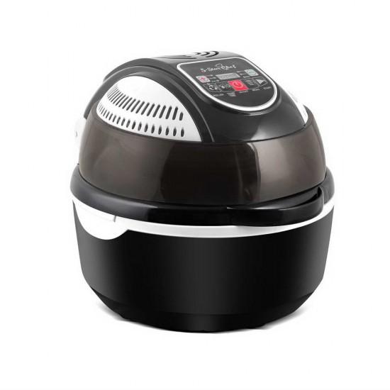 10L 6 Function Convection Oven Cooker Air Fryer- Black