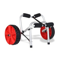 Aluminium Collapsible Kayak Trolley Wheel Cart Boat Carrier