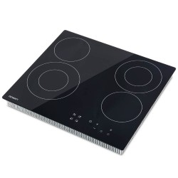 6300W Four Burner Ceramic Cooktop - Black