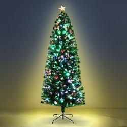 Jingle Jollys 2.4M 8FT LED Christmas Tree Multi Colour