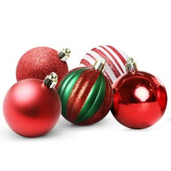 Jingle Jollys 50pcs Christmas Baubles - Red