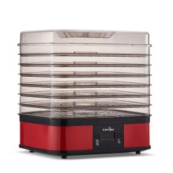Food Dehydrator with 7 Trays - Red