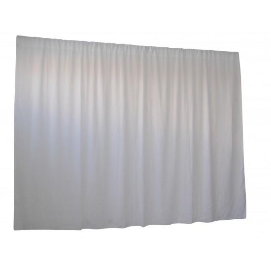 2.8M X 4M White Wedding Drape Backdrop Curtain