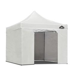 Instahut Aluminium Pop Up Gazebo Outdoor Folding Marquee Tent 3x3m White
