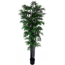 UV Stabilized Artificial Japanese Bamboo On A Black Trunk 2.1m