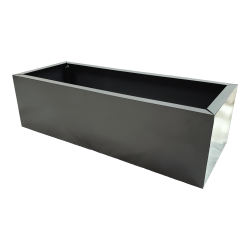 Grey Metal Planter Small
