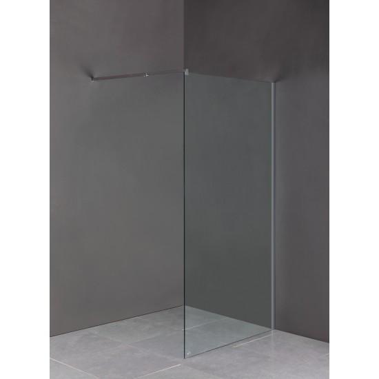 1100 x 2100mm Frameless 10mm Safety Glass Shower Screen