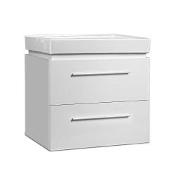 Cefito Ceramic Basic with Cabinet - White