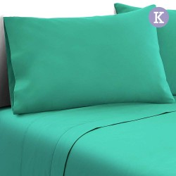 4 Piece Microfibre Sheet Set King 鈥?Aqua