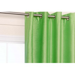 Apple Green Blockout Eyelet Curtain 140x221cm
