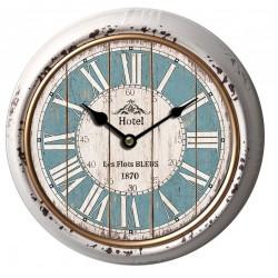"""Classic 10"""" Round Metal Clock"""
