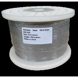200M G316 STAINLESS STEEL WIRE ROPE 3.2MM BALUSTRADE