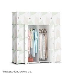 16 Compartment Cube Cabinet DIY Stackable Storage Organiser Shoe Rack