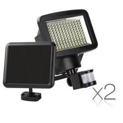 Set of 2 120 LED Solar Powered Senor Light